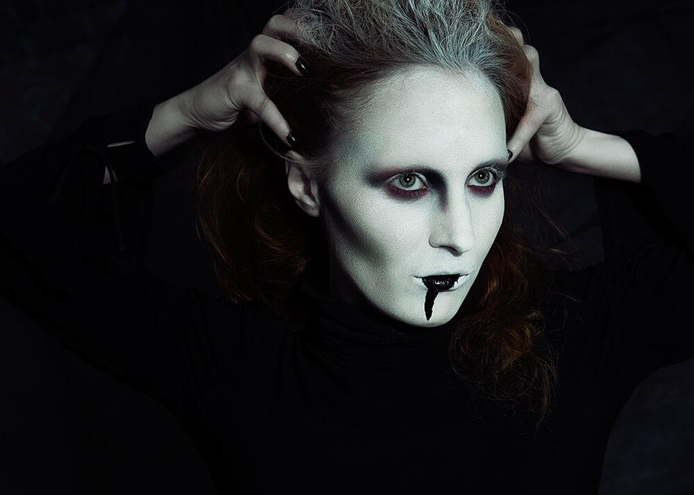 dark, make up, beauty, scary