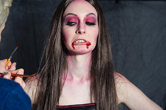 make up, halloween, vampir, blut, beauty, mist stockholm, making of