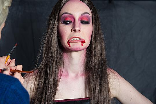 make up, halloween, vampir, blut, beauty, mist stockholm, making of