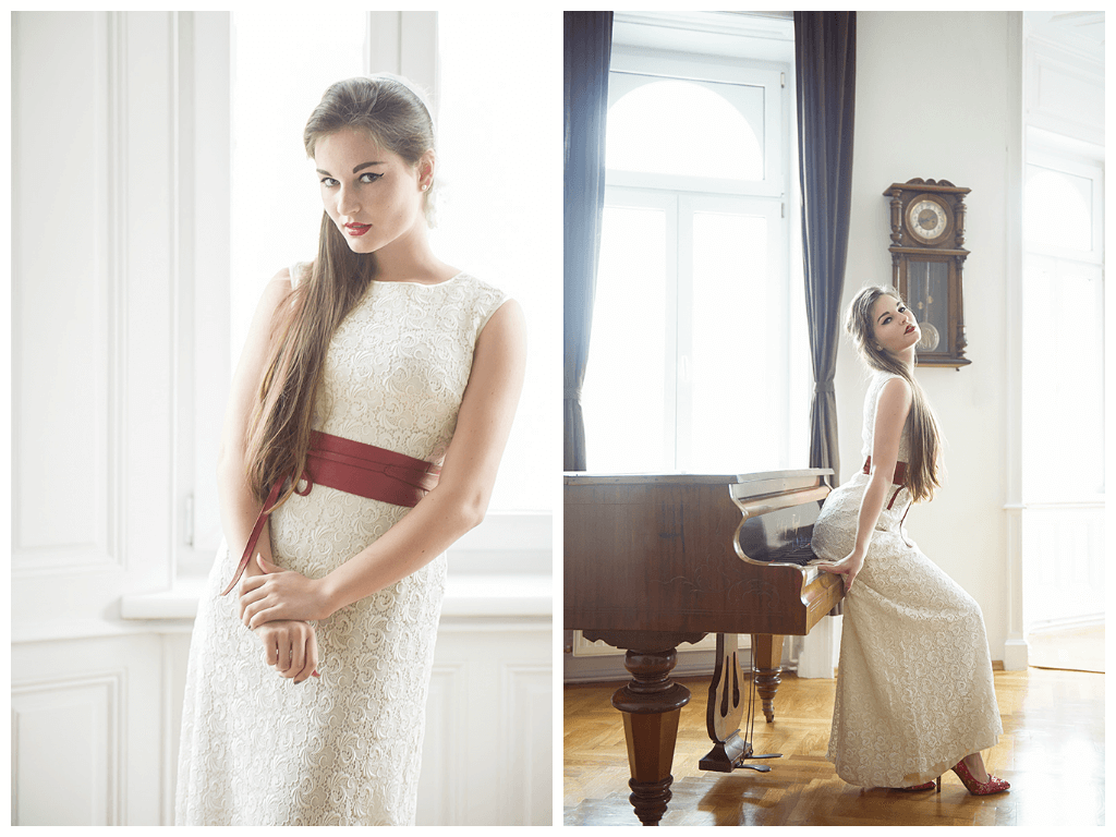 manon krulis, vintage, bride, wedding, dress, retro, beauty, ursula schmitz, wien, portrait