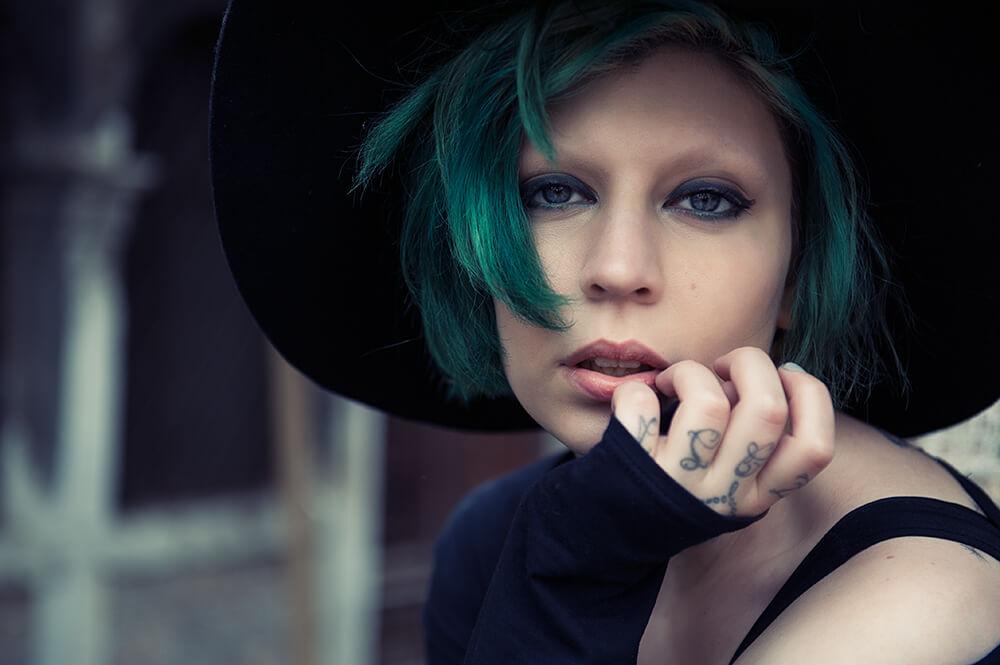 alison g, alternative model, italia, italien, portrait, venedig, venice, portrait, photography, ursula schmitz, vintage, retro, green hair