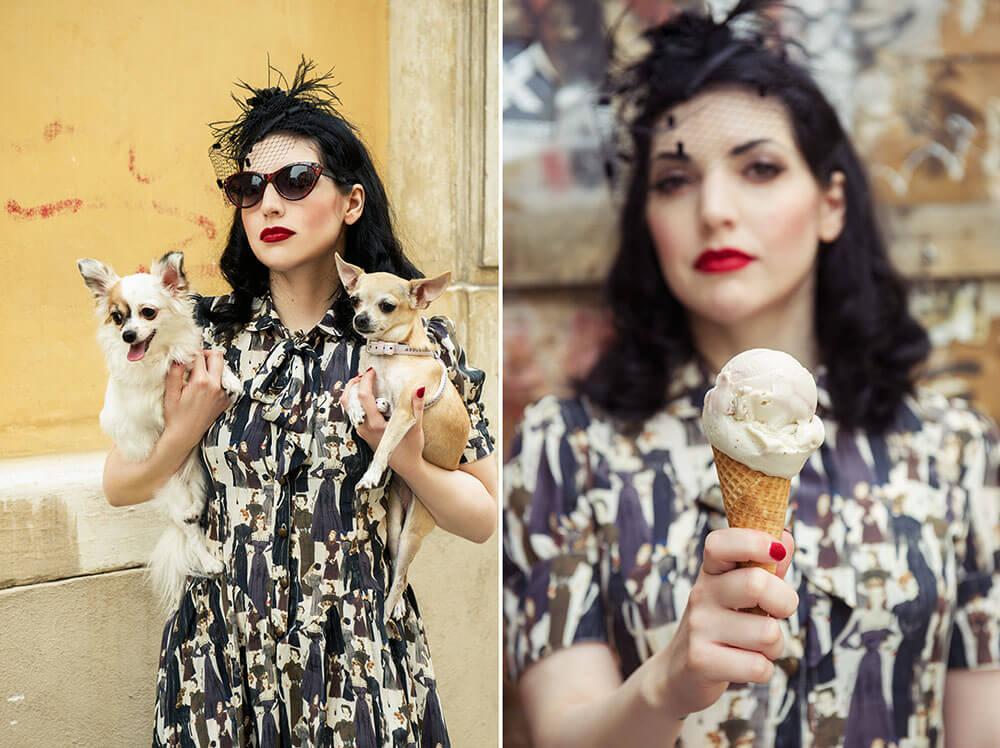 portrait, fotografie, wien, vintage, retro, goldstück, cleo purr, hunde, fashion