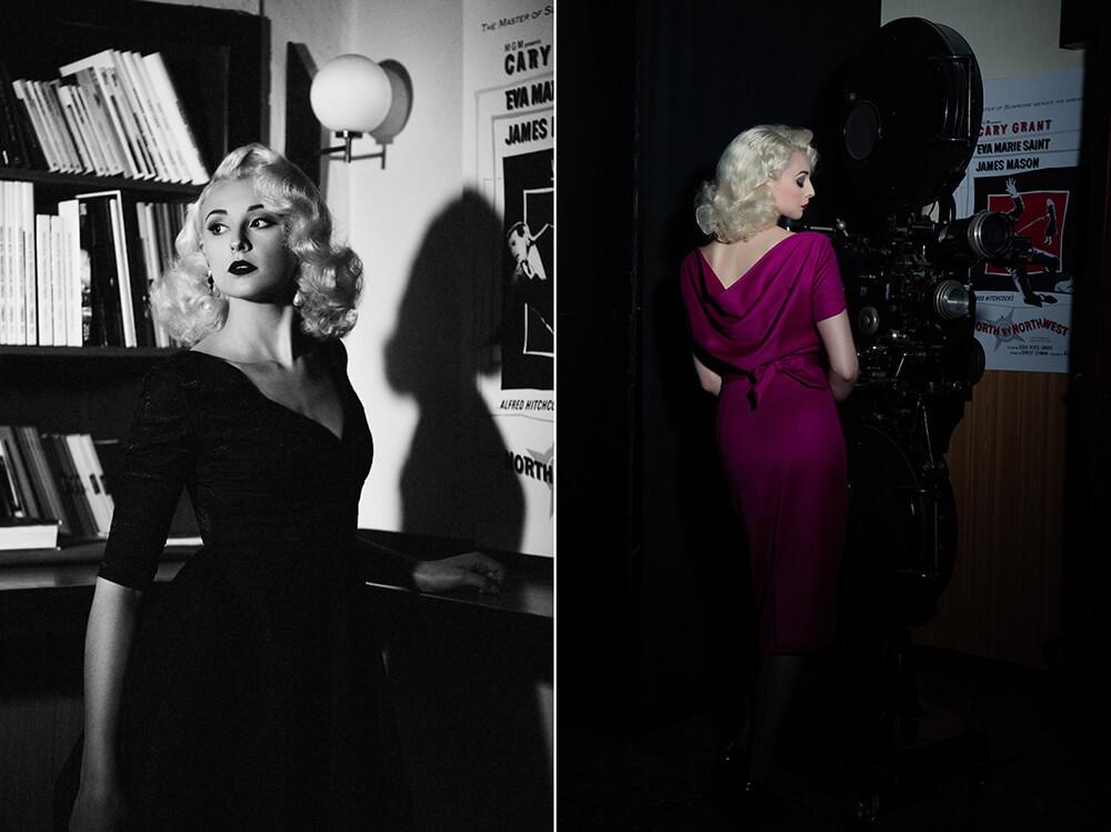 irina hofer, design, fashion, hitchcock, blondes, cool, sexy, sensual, vienna, admiral kino, cinema, vintage