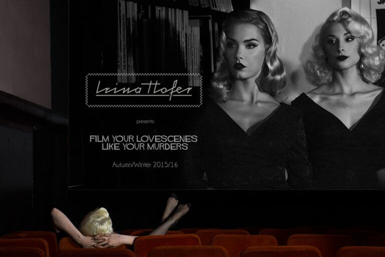 irina hofer, design, fashion, hitchcock, blondes, cool, sexy, sensual, vienna, admiral kino, cinema, vintage