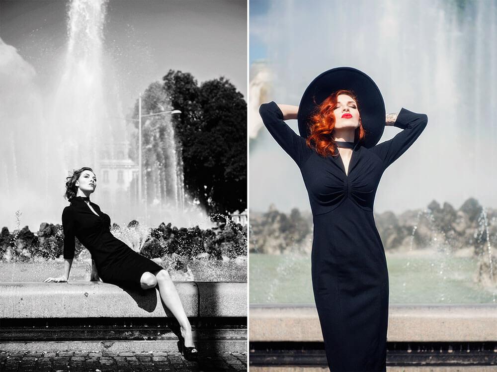 kate steel, portrait, vienna, glamour, vintage inspired, destination portrait, vienna