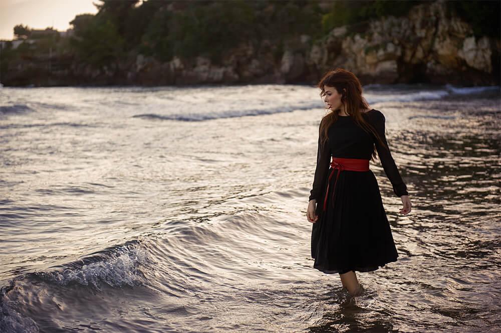 travel, destination shoot, italia, europe, ursula schmitz. portrait, sea, beauty