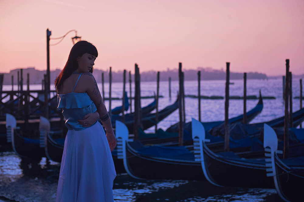 ursula schmitz, venice, italia, sunrise, photoshoot, destination, portrait