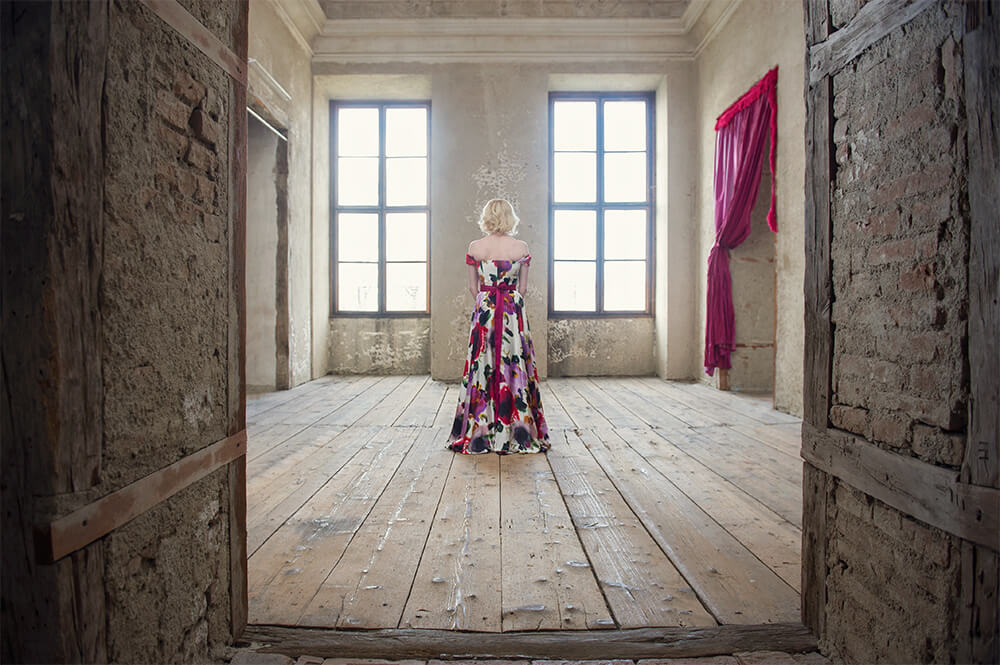irina hofer, ursula schmitz, dream shoot, destination shoot, portrait, fashion, vintage inspred, evening gown, elegant