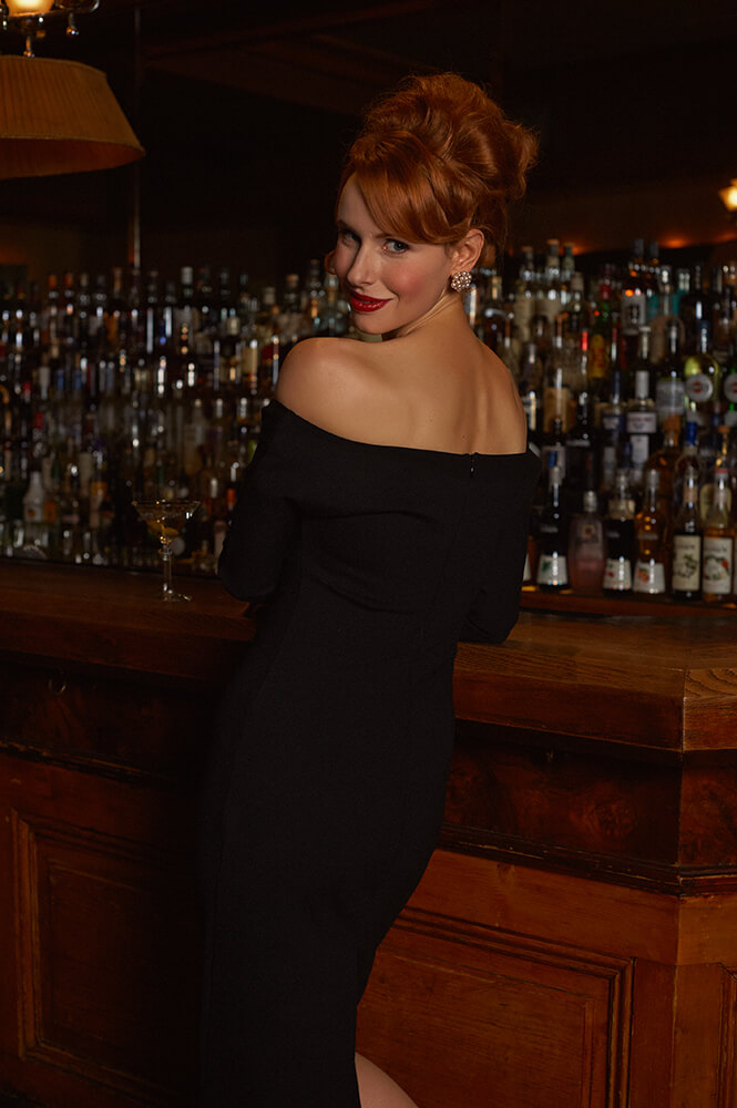 niki löwenstein, irina hofer, mad men, joan holloway, vienna, photography, ursula schmitz, vintage inspired, kruger´s american bar, nighttime