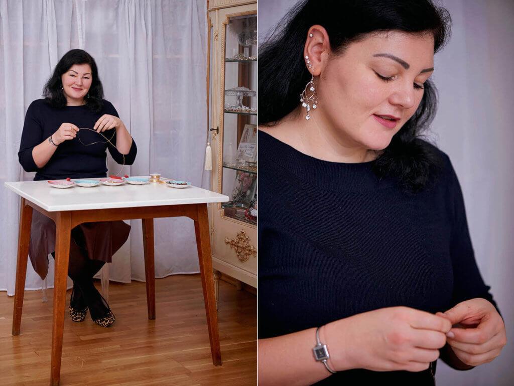 Social Media Content und Personal Branding Fotografie für Schmuckdesignerin Edita Rosenrot in Wien, Fotos von Ursula Schmitz
