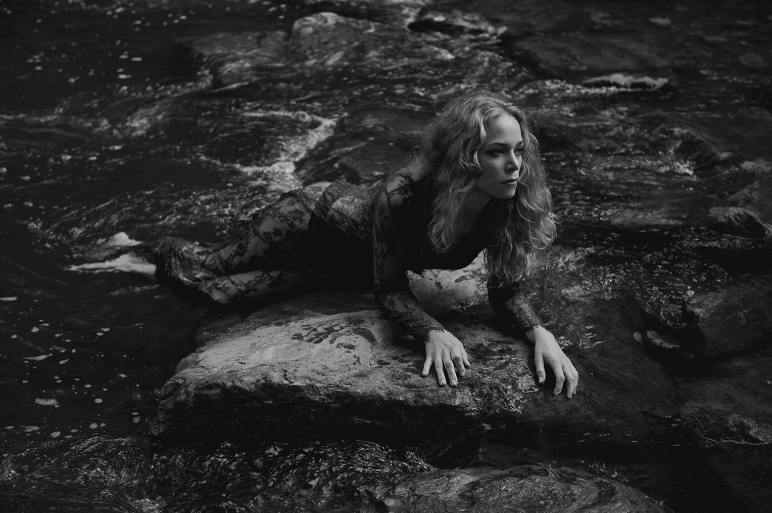 Ein sommerliches Fotoshoot im Wasser, Ophelia